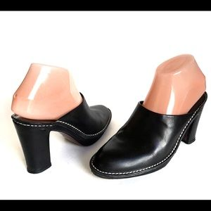 DONALD J PLINER Black Leather Mule Slide Sandals 7